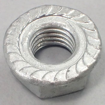 Flange Nut, Serrated, Flange Thickness, Hot Dip Galvanizing, Pack Product