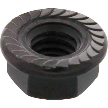 Flange Nut, Serrated, Stainless Steel, Black, Pack Product