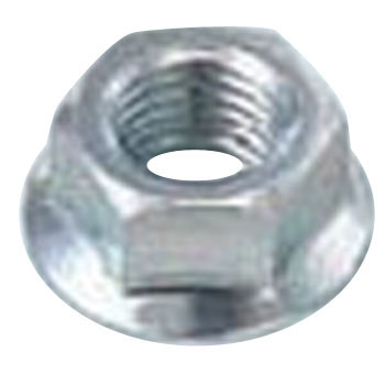 Flange Nut, Serrated, Titanium