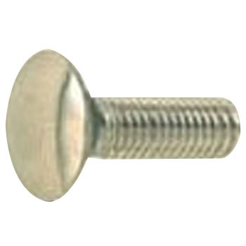 Carriage Bolt, Full Threaded, Stainless Steel