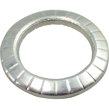 Conical Spring Washer For Cap, Heavy Duty, Iron, Trivalent White, Pack Product