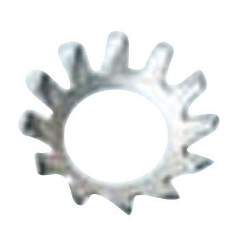 Countersunk Tooth Lock Washer, Iron, Trivalent White