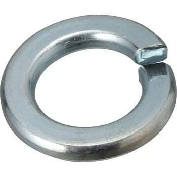 Spring Lock Washer, Iron, Uni Chromate