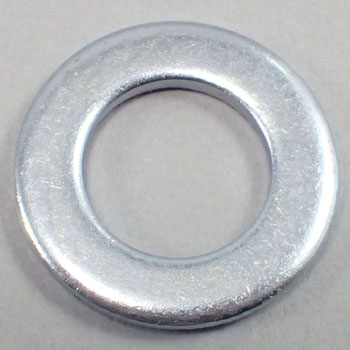 ISO Round Washer, Iron, Uni Chromate