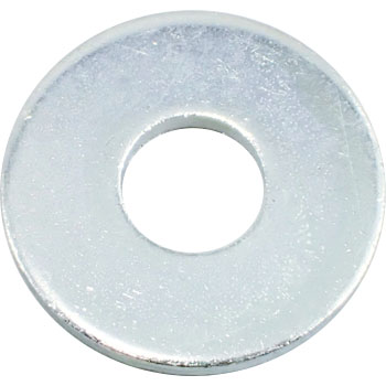 Round Washer Special Size, Iron, Trivalent White