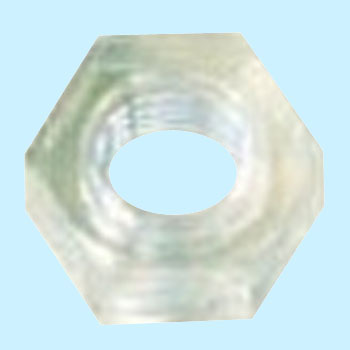 Hex Nut, Polycarbonate, Blue, Pack Product