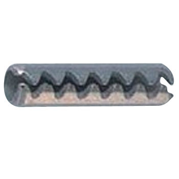 Toothed Slotted Spring Pins For Light Duty Use, Stainless Steel
