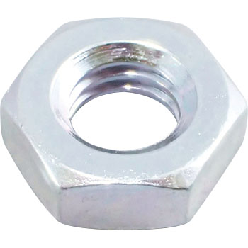Hex Nut Left Hand Thread, Iron, Trivalent White