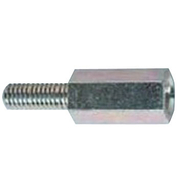 ECO-FE Hex Screw Spacer, Iron, Lead Free Steel, Trivalent White