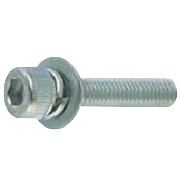 Hex Socket Head Cap Screw, P=3 SW Plus JIS Washer Built In, Stainless Steel, Packed