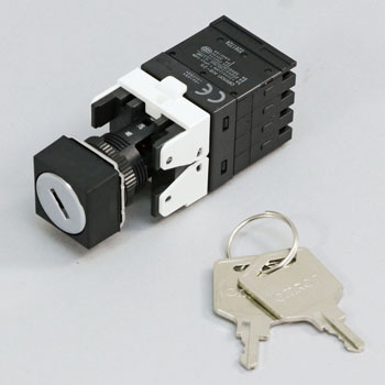 Key-type selector switch (separate type) (Marudogata Φ16) A165K