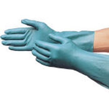 B-121 Nitrile Rubber Thick Gloves, Green
