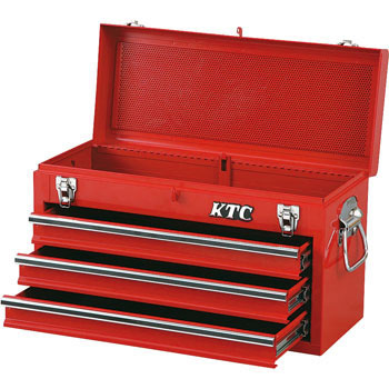 CHEST (3-DRAWER, Solid Red)