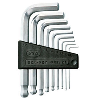 Ball point hex key wrench set