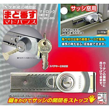 Window Sash Lock, Keyed