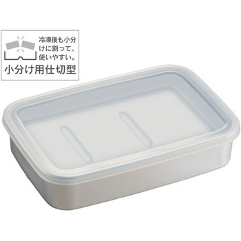 Aluminum quick freezing storage container L natural Skater Tupper