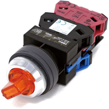 phi25 TWS series illuminated selector switch (LED) 90 degree 2 notch