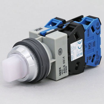 phi25 TWS Series Illuminated Selector Switch (LED) 45 degree 3 Notch 2a