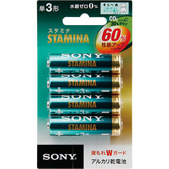 Alkaline Dry Cell Battery, STAMINA