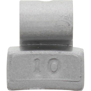 Iron implant weights for aluminum wheels