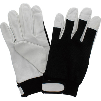 Swine Leather Gloves, Hook and Loop Fastener