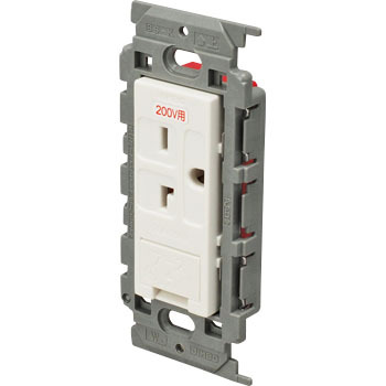 High Capacity 200v Electrical Outlet Insulating Frame With A Ground
