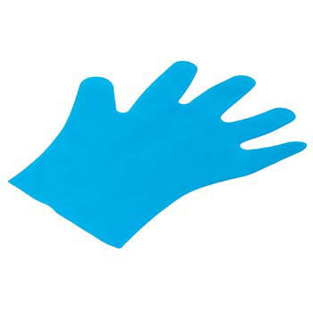 Blue Polyethylene Disposable Gloves, Boxed