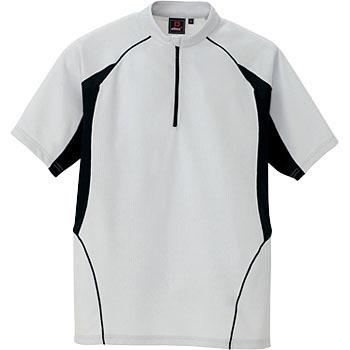 AZ-7669 zip-up short-sleeved shirt (unisex) (for the year)