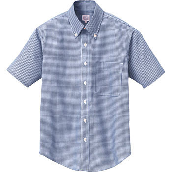 AZ-7825 Canadian Creek short-sleeved gingham button-down shirt (unisex) (for the year)