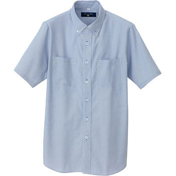 AZ-50402 plus style short-sleeved button-down shirt (code lane) (unisex) (for the year)