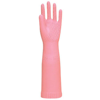 Thick Natural Rubber Gloves, Long No.215