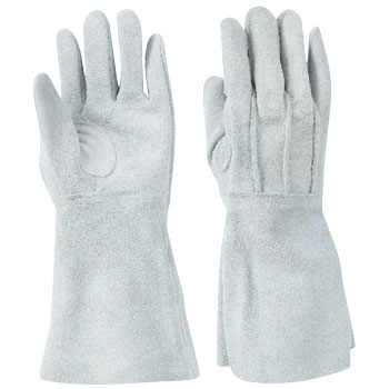 Welding Split Leather Five Finger Gloves W-335 Outside Stitch