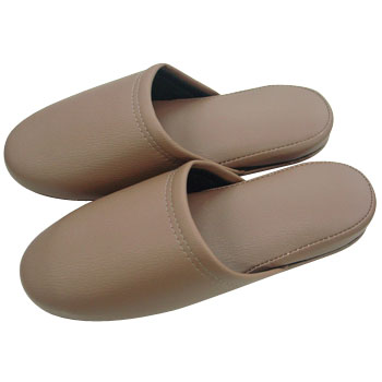 Antibacterial Leather Tone Slippers