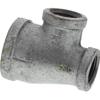 Different three-way diameter cheese malleable cast iron pipe fitting (white)
