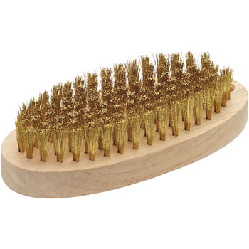 Brass brush oval