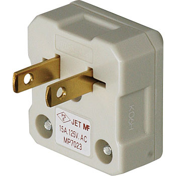 15A 125V L-type plug (for round cable)