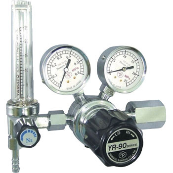 General-purpose compact pressure regulator YR-90F (with flowmeter)