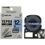 Tepra Pro Tape Strong Adhesive Label Tape, Black Characters On Blue Tape,