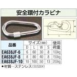10 x 100 mm carabiner with safety ring