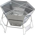 Hexa stainless fire grill
