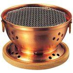 Copper water stove (with wooden stand Ami)
