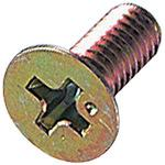 Countersunk Head Machine Screw, Iron/Chromate