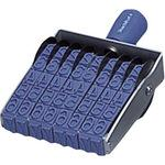 Rotation rubber stamp Latin 8 stations oversized No.