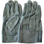 Washable Cow Split Leather Gloves Back Seam, Oil Processing