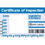 US vehicle inspection sticker
