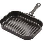 La cooking iron angle type grill pan