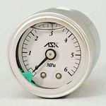 Oil-filled pressure gauge (stainless steel case)