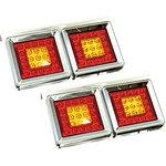 LED tail lamp 24V SD-2006 square type 2 stations