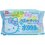 HELLO KITTY 99.9% PURE WATER WET SHEETS (80 SHEETS X 3 PACKS)