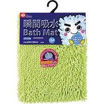 Instant water absorption bath mat